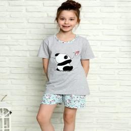 Dziewczęca piżama z krótkim...