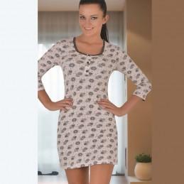 Piękna rozpinana koszula nocna z długim rękawem M L XL 2XL