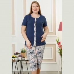 piżama damska koszula śliczny kwiatowy wzór XL 2XL 3XL 4XL