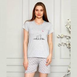 Piżama damska na lato ze ślicznym nadrukiem M L XL 2XL