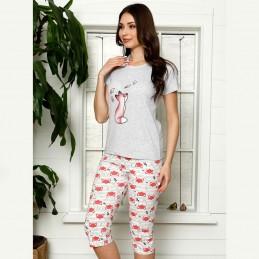 Urocza piżama damska nocna lis w kolorze czerwonym M L XL 2XL