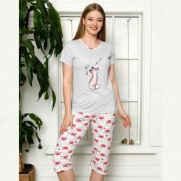 Piżama damska nocna różowy kolor M L XL 2XL