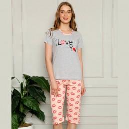 Piżama damska romantyczny wzór M L XL 2XL