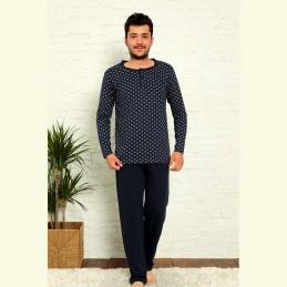 Piżama męska ciemny kolor długi rękaw M L XL 2XL