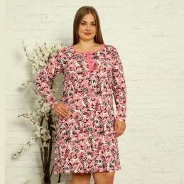 Koszula nocna damska z różowym wzorem rozpinana XL 2XL 3XL 4XL
