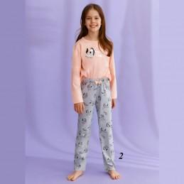 Morelowa dziewczęca piżama wzorek z zebrą 92 do 140