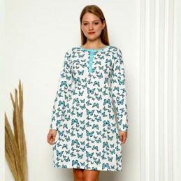Świetna koszula nocna ecru z dziewczęcym wzorem M L XL 2XL