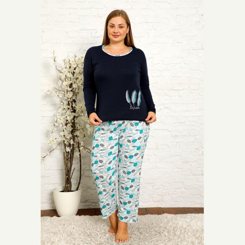 Piękna damska piżama w kontrastowych kolorach XL 2XL 3XL 4XL