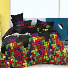 Pościel z wzorem z gry Tetris 140x200