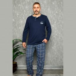Elegancka piżama męska bawełna XL 2XL 3XL 4XL