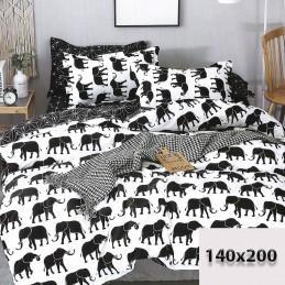 Pościel wzór biało-czarna 140x200