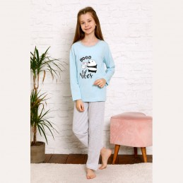 Śliczna dziewczęca piżama z pandą 134 do 164
