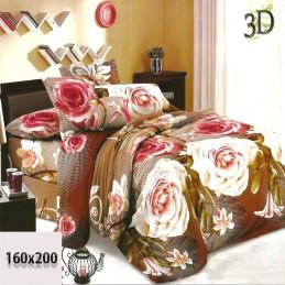 Nowoczesna pościel w róże 3d 160x200