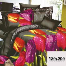 Komplet pościeli 6 części w tulipany