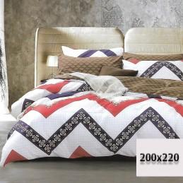 Pościel 200x220 we wzory i kratę