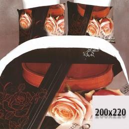 Pościel w różowe róże 200x220 3d