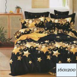 Czarna pościel gwiazdy 160x200