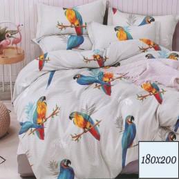 Pościel jasna papugi 180x200