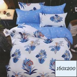 Biało niebieska pościel 160x200