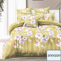 Komplet pięknej pościeli w kwiaty 200x220