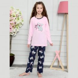 Piżama dla dziewczynki różowa z misiem koalą 122 128 134 140 146 152