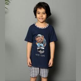 Super piżama dla chłopca granatowa z misiem 134 140 146 152 158 164