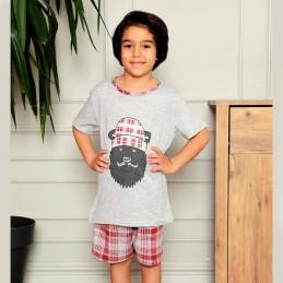 Piżama chłopca w kratę 134 140 146 152 158 164