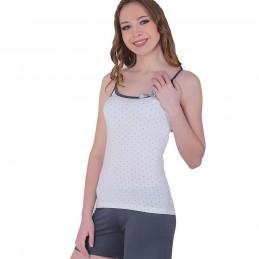 Piękna piżama damska krótka z kokardką szare spodenki M L XL 2XL