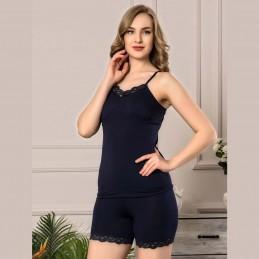 Seksowna koronkowa piżama damska krótka kolor granatowy M L XL 2XL