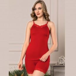 Zmysłowa seksowna piżama czerwona damska z koronką M L XL 2XL