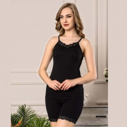 Seksowna piżama damska kolor czarny M L XL 2XL