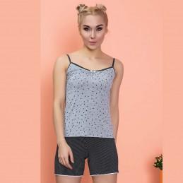 Piżama damska dziewczęca na ramiączkach krótkie spodenki M L XL 2XL