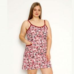 Koszula nocna romantyczna kolor różowy na ramiączkach duże rozmiary XL 2XL 3XL 4XL