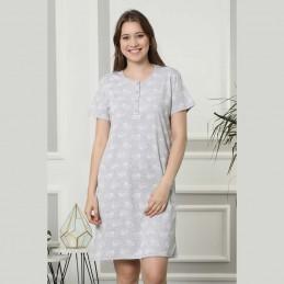 Bawełniana koszula nocna w jasnym kolorze w serca M L XL 2 XL